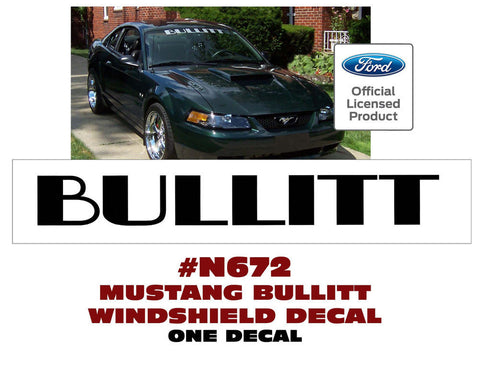 Bullitt Windshield Banner
