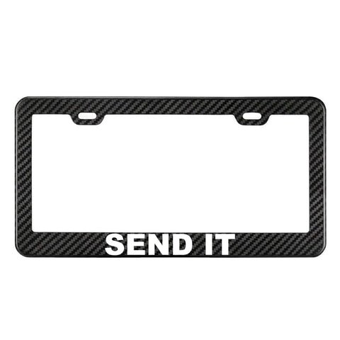 SEND IT 100% Real Carbon Fiber License Plate Frame