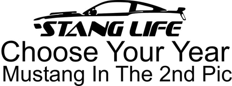 Stang Life Mustang Silhouette Decal