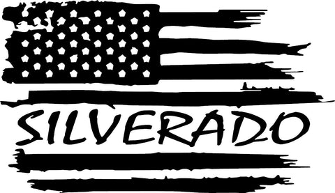 Silverado American Flag Decal