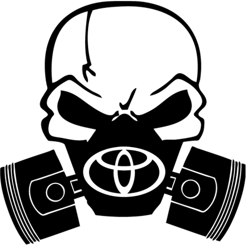 Toyota Piston Gas Mask Decal