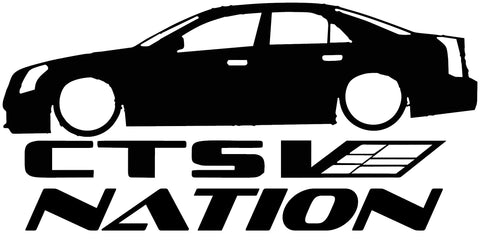 Cadillac CTS V1 Nation Decal