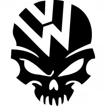 Volkswagen Skull Decal