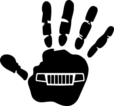Jeep Wave WJ Grill Decal