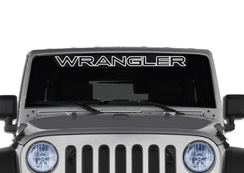 Jeep Wrangler Outline Windshield Banner