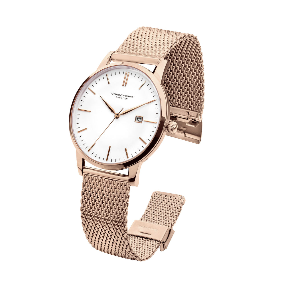 watch rose calvin watches klein women gold s minimal