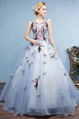 Ball Gown Court Train Halter Floral Embroidery Wedding Dress