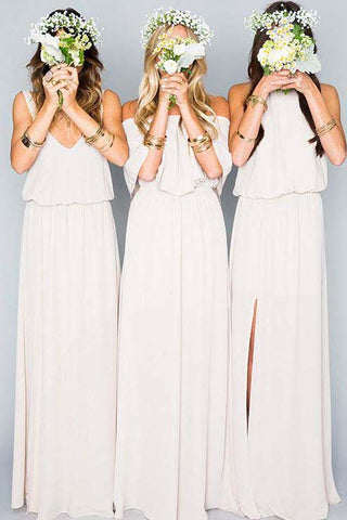 identical dresses for bridesmaids
