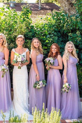Lavender A Line Sweetheart Bridesmaid Dresses
