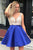 A-Line Beading Bodice Short Prom Dresses Homecoming Dress With Pockets M753