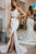 Two Piece Lace Mermaid Prom Dress With Split, 2 Pieces V-neck Evening Dress D470