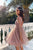 Glitter Pink 3/4 Sleeves Open Back Short Prom Homecoming Dress M732