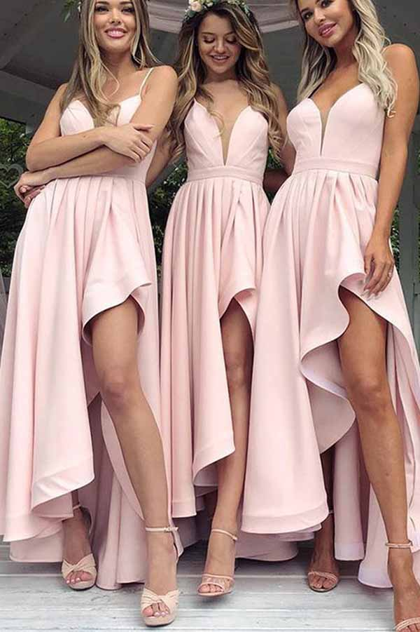 Charming Deep V Neck Spaghetti Straps SleevelessBridesmaid Dress B388 - Ombreprom