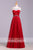 Elegant Red Round Neck Sleeveless With Beading Prom Dress P758