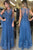 Round Neck See Though Back A Line Sleeveless Long Prom Dresses P925