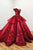 Gorgeous Off the Shoulder Open Back With Appliques Ball Gown Prom Dress P752
