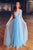 Stunning Deep V Neck Sleeveless A Line Floor Length Prom Dress P731