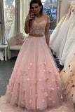 Chic Off Shoulder Sleeveless Two Piece Prom Dress D375