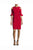 Red Sheath Knee Length Bateau Neck Half Sleeve Zipper Back Mother of the Bride Dresses
