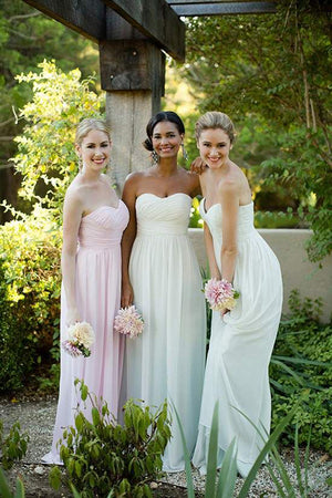 A Line Floor Length Sweetheart Spaghetti Sleeveless Cheap Bridesmaid Dress B235 - Ombreprom