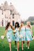 Mint Green A Line Knee Length Sleeveless Chiffon Simple Cheap Bridesmaid Dresses B251