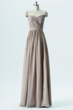 Sand A Line Floor Length Sweetheart Capped Sleeve V Back Cheap Bridesmaid Dresses