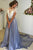 A Line/Princess Court Train Jewel Neck Short Sleeve Backless Evening/Prom Dress P45 - Ombreprom