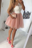 Layers Lace Appliques Short Prom Dress, Cute Sleeveless Homecoming Dress HCD79