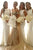 White Mermaid Sweep Train Scoop Neck Sleeveless Cheap Bridesmaid Dress B258