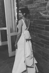 Simple V Neck Sleeveless Mermaid Wedding Dress W812