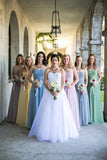 A Line Floor Length Sweetheart Strapless Mid Back Chiffon Cheap Bridesmaid Dress B228 - Ombreprom