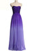 Ombre A Line Brush Train Sweetheart Chiffon Prom Dress,Formal Dress O29
