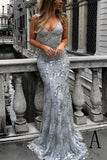 Elegant Sheath Sweep Train V-neck Sleeveless Backless Long Prom Dress,Party Dress P224