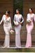 Sheath Sweep Train Deep V Neck Long Sleeve Cheap Bridesmaid Dress B294