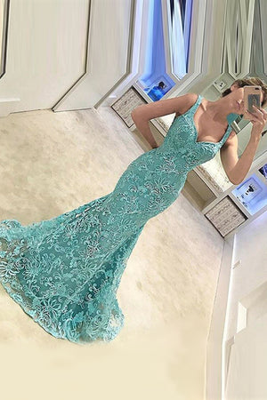 Trumpet Court Train Sweetheart Sleeveless Appliques Beading Prom Dress,Party Dress