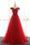 Red A Line/Princess Floor Length Off Shoulder Layers Tulle Evening/Prom Dress P44 - Ombreprom