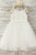 White A Line Floor Length Sleeveless Zipped Back Lace Flower Girl Dresses,Baby Dress