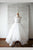 White A Line Brush Train Square Neck Sleeveless Backless Flower Girl Dresses,Baby Dress