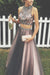 Two Piece A Line Halter Sleeveless Keyhole Back Beading Evening/Prom Dress P79