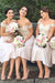 A Line Knee Length Off Shoulder V Back Appliques Cheap Bridesmaid Dress B274