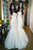 White Trumpet Floor Length Curve Sleeveless Cheap Bridesmaid Dress