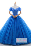 Ball Gown Chapel Train Off Shoulder Layers Lace Up Wedding Gowns,Wedding Dress W251 - Ombreprom