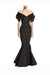 Black Mermaid Floor Length Off Shoulder Short Sleeves Mother of the Bride Dresses M28