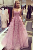 Gorgeous Sweetheart Tulle Lace Applique Strapless Floor Length Prom Dress P741