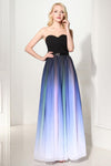 Ombre A Line Floor Length Sweetheart Strapless Sleeveless Prom Dress,Formal Dress