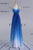 Ombre A Line Floor Length Sweetheart Sleeveless X Back Sparkle Prom Dress,Formal Dress