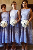 Lavender A Line Asymmetrical Sleeveless Bridesmaid Dress, Wedding Party Dress