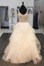 White A Line Floor Length Scoop Neck Sleeveless Ruffles Beading Wedding Dress,Wedding Gowns W283