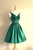 Green A Line V Neck Sleeveless V Back Short Homecoming Dress,Short Prom Dress