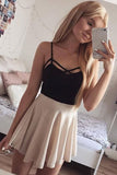 Chic Spaghetti Straps Chiffon Short Homecoming Dress M495